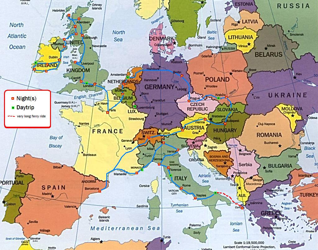 europe-map-new Map My Trip Europe on my travel map, my weather map, my country map,