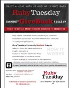 Ruby Tuesday campaign